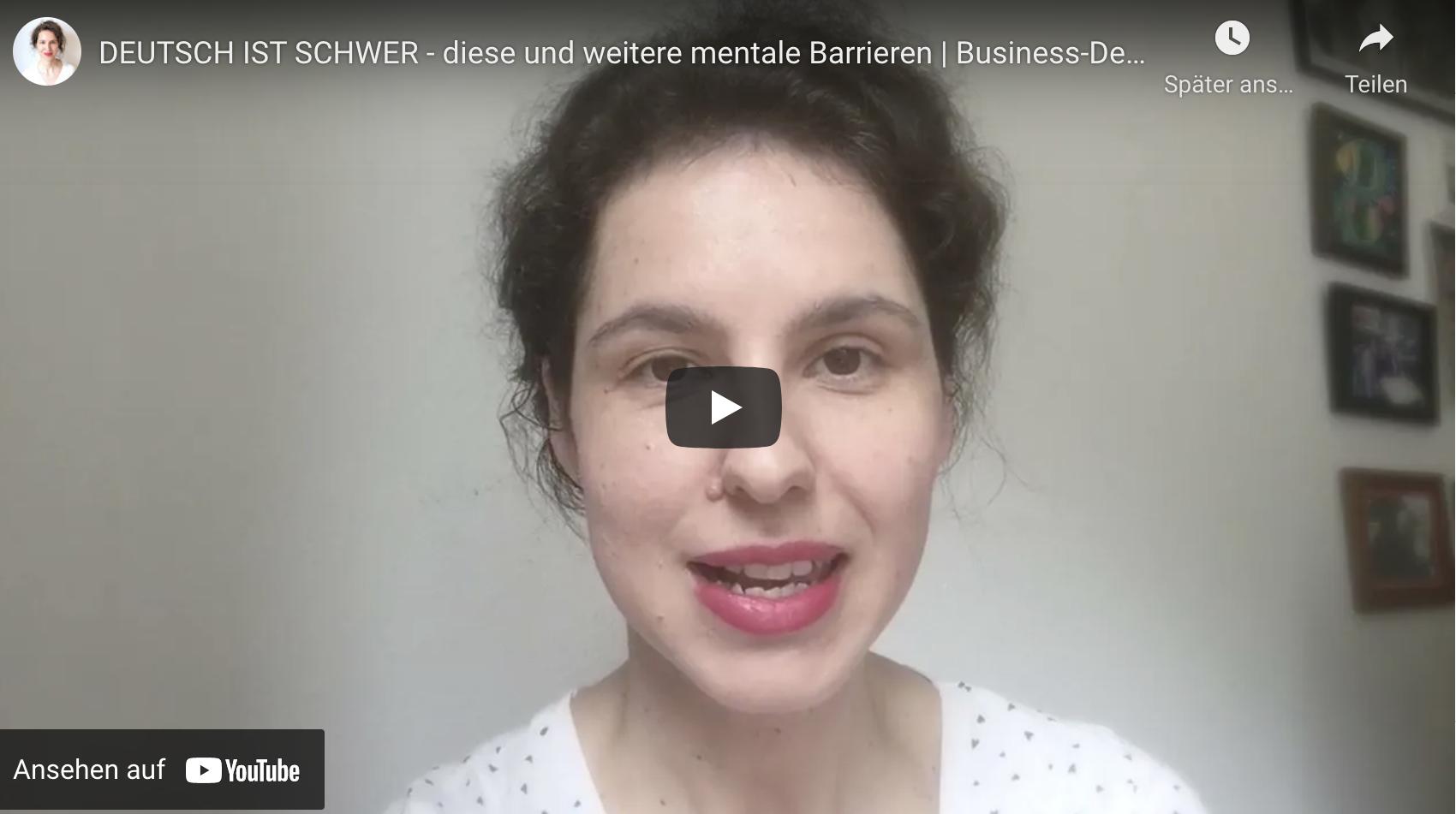 Deutsch ist schwer – diese und weitere mentale Barrieren