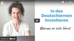 Warum Du in das Deutschlernen investieren solltest