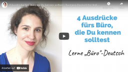 4 Ausdrücke fürs Büro, die Du kennen solltest | Business-Deutsch für High Professionals