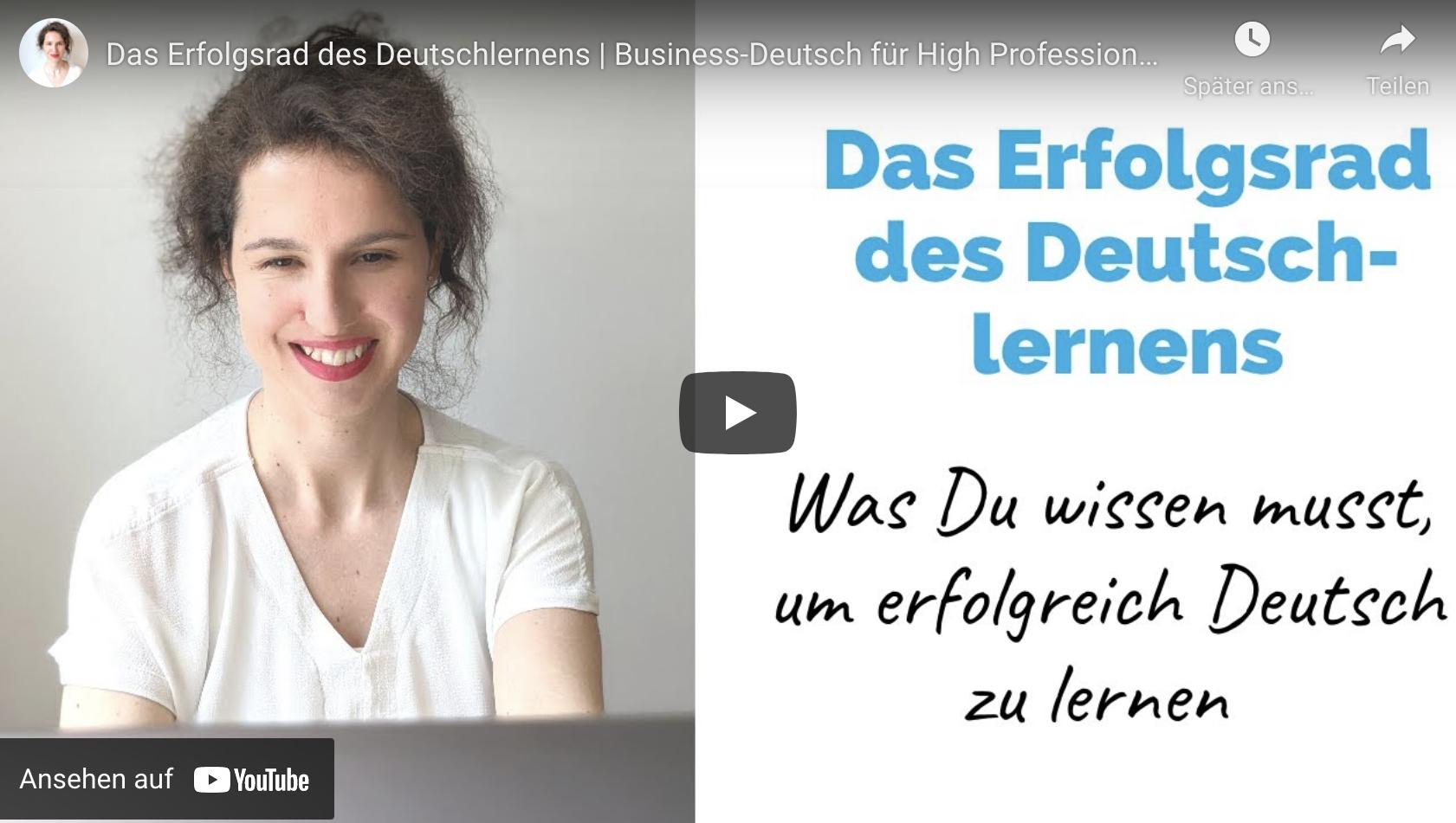Das Erfolgsrad des Deutschlernens