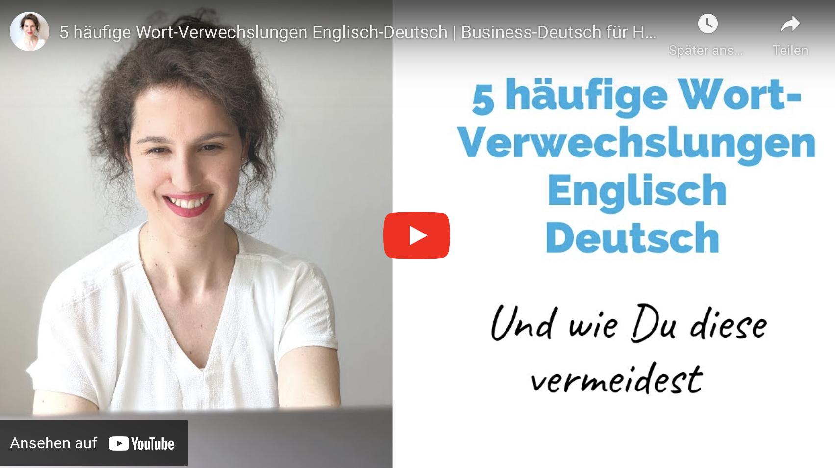 5 häufige Wort-Verwechslungen Englisch – Deutsch